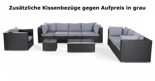 designer rattan gartenmöbel lounge rattanlounge günstig schwarz weiss,