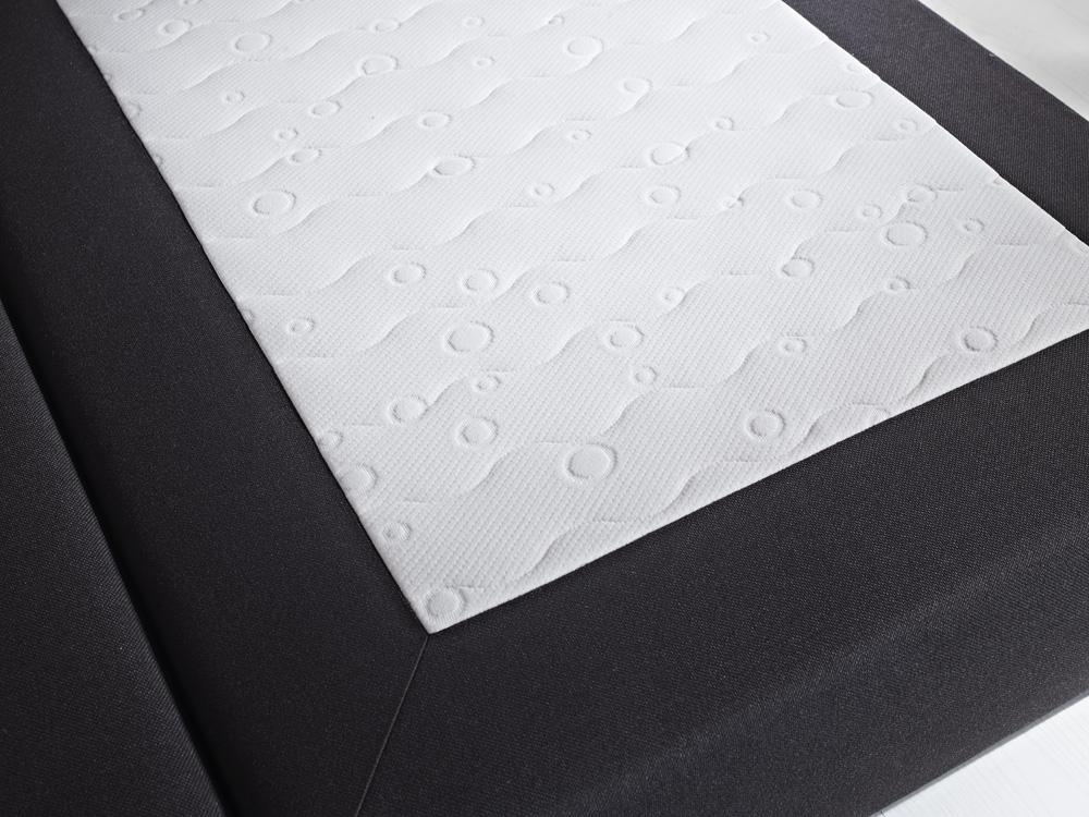 Boxspringbett Weiß Stoff ~ Boxspringbett Stoff weiß schwarz grau mit Visko Visco Matratzen