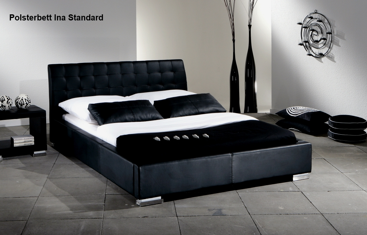 supply24 lederbett polsterbett ina leder bett weiss. Black Bedroom Furniture Sets. Home Design Ideas