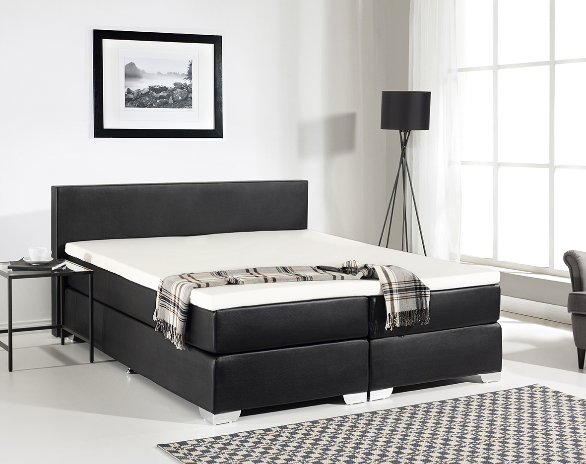 leder boxspringbett mit matratze visko visco matratzenauflage g nstig supply24. Black Bedroom Furniture Sets. Home Design Ideas