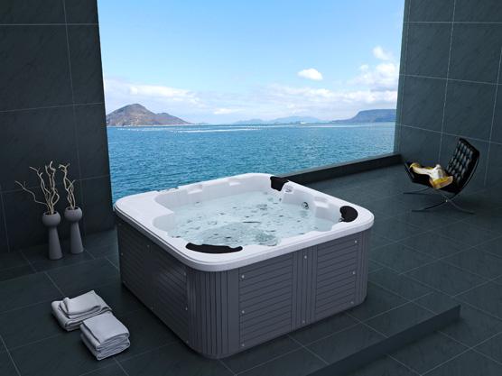 outdoor whirlpool hot tub venedig weiss f r garten terasse neu. Black Bedroom Furniture Sets. Home Design Ideas