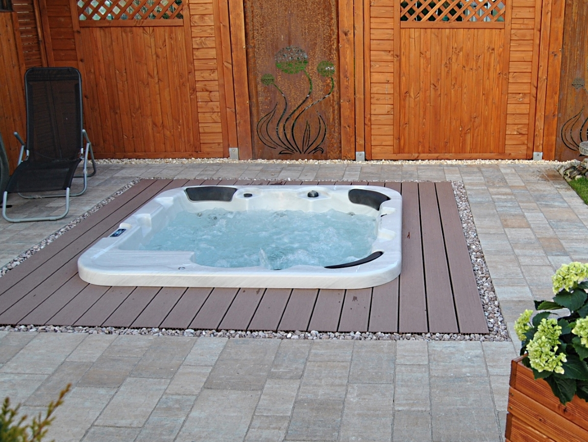 Outdoor Whirlpool Hot Tub Troja blau für 5 - 6 Personen mit 44 ...