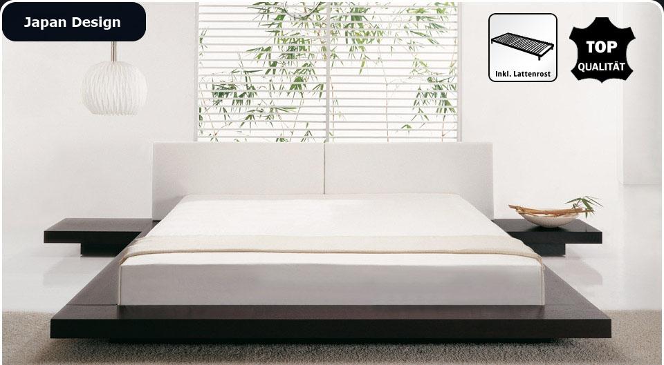Designer Bett Japan Stil japanisches Futonbett flach Walnuss mit ...