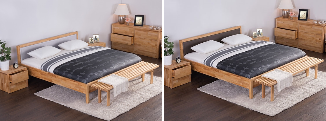massives holzbett 180x200 cm mit lattenrost lattenrahmen. Black Bedroom Furniture Sets. Home Design Ideas