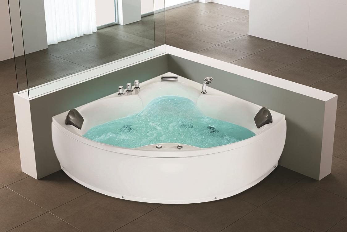 whirlpool eck badewanne luxus wellness bad eckwanne. Black Bedroom Furniture Sets. Home Design Ideas
