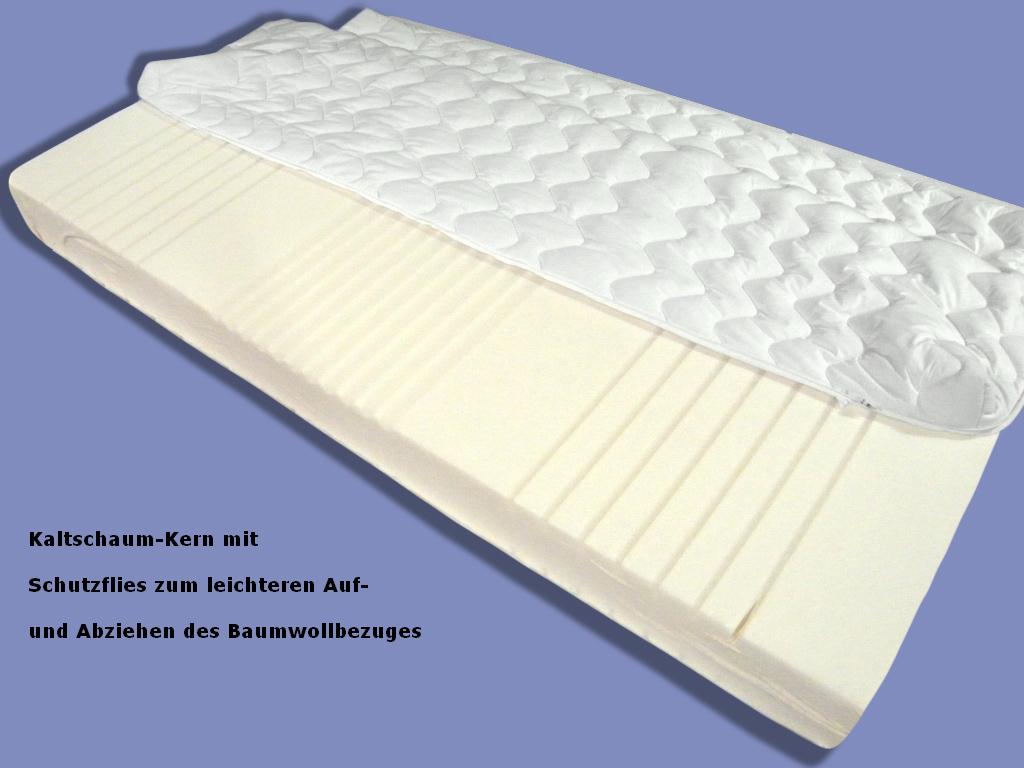 wellness 7 zonen kaltschaum matratze h he 20 25 cm. Black Bedroom Furniture Sets. Home Design Ideas