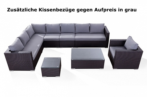 Rattan lounge grau günstig  Designer Rattan Gartenmöbel Lounge Rattanlounge günstig Sitzmöbel ...