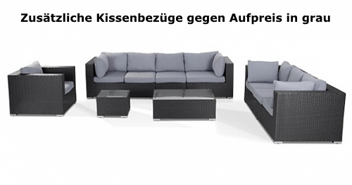 Rattanmöbel günstig  Designer Rattan Gartenmöbel Lounge Rattanlounge günstig schwarz ...