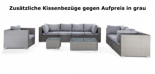 Rattan lounge schwarz grau  Designer Rattan Gartenmöbel Lounge Rattanlounge günstig schwarz ...