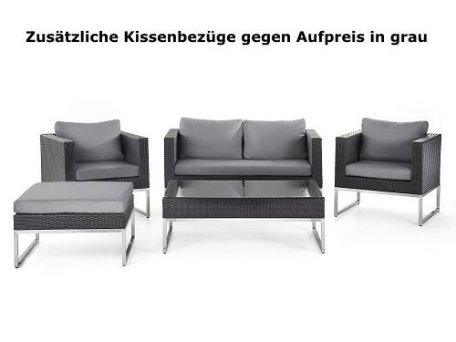 Luxus Rattan Gartenmöbel Lounge Rattanlounge günstig Sitzmöbel braun ...