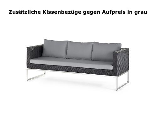 Designer Rattan Gartenmöbel Sitzbank Sofa Sitzgarnitur Garten