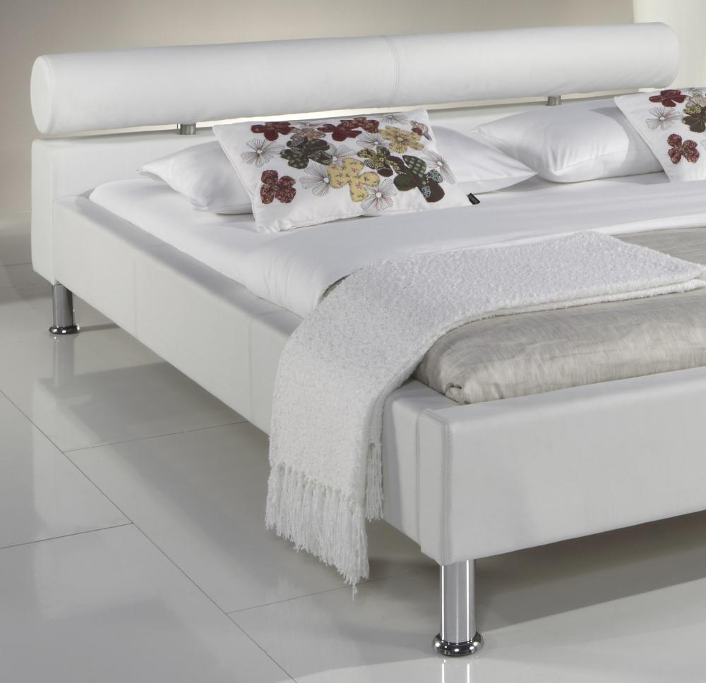 lederbett polsterbett modernes leder bett weiss oder schwarz g nstig supply24. Black Bedroom Furniture Sets. Home Design Ideas