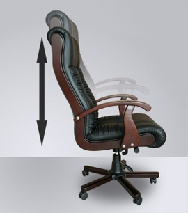 Chefsessel holz  Leder Chefsessel Massagesessel Sessel schwarz Bürostuhl mit ...