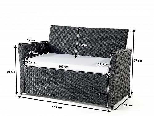 rattan gartenm bel lounge rattanlounge garten tisch bank stuhl g nstig supply24. Black Bedroom Furniture Sets. Home Design Ideas