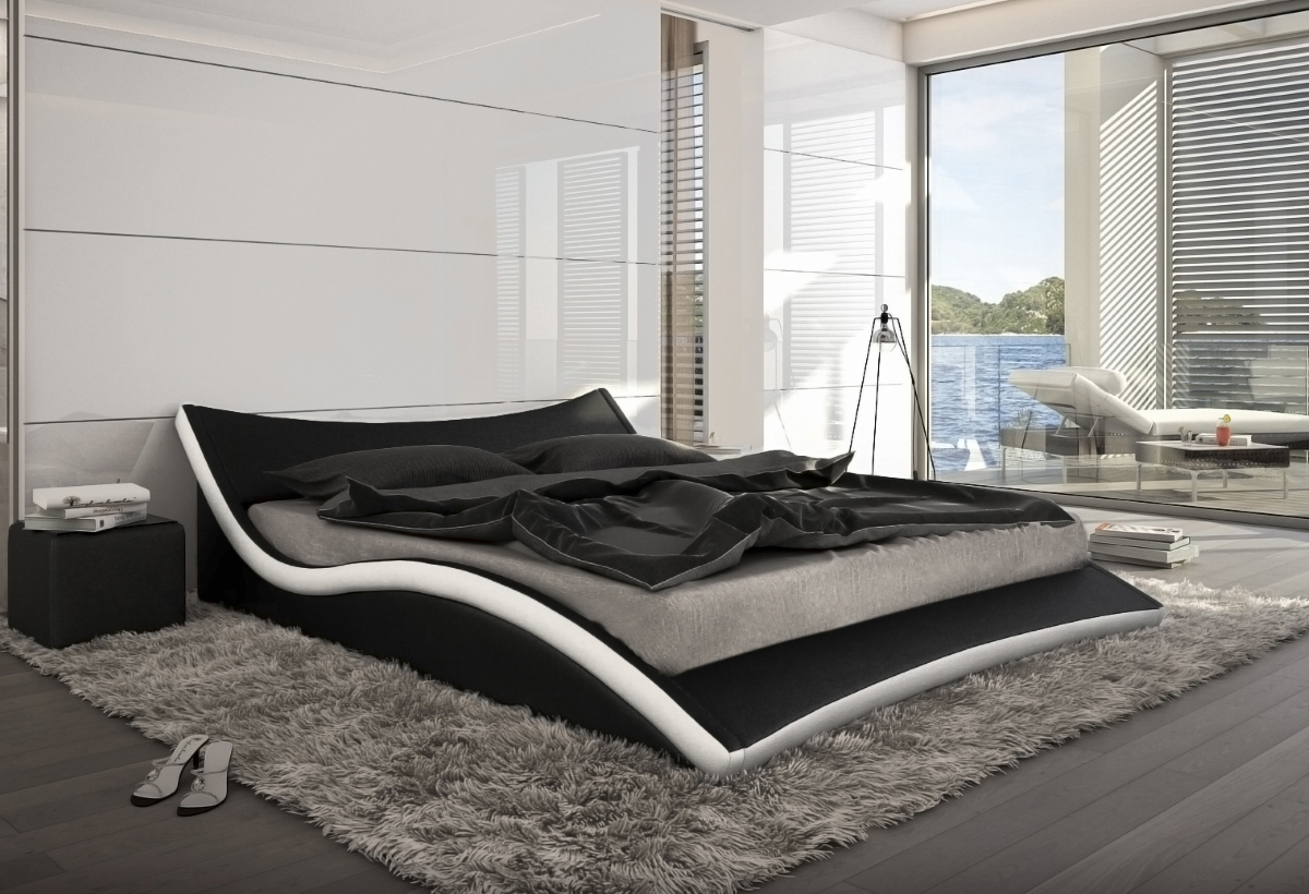bett weiss modern. Black Bedroom Furniture Sets. Home Design Ideas