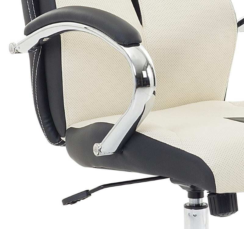Bürostuhl weiß braun  Racing Chefsessel Bürosessel Bürostuhl bequemer Sessel weiss ...