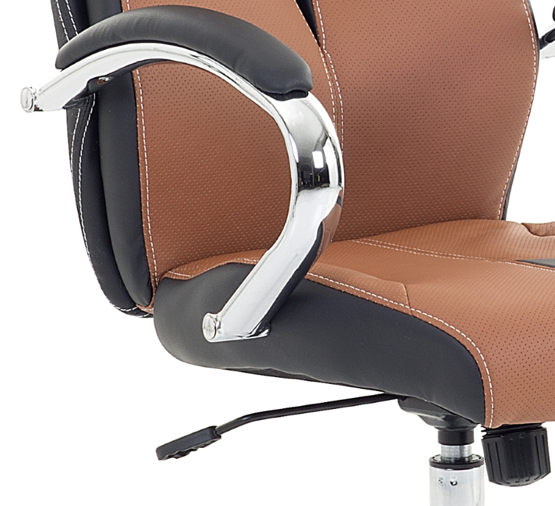 Designer chefsessel  Racing Chefsessel Bürosessel Bürostuhl bequemer Sessel braun ...