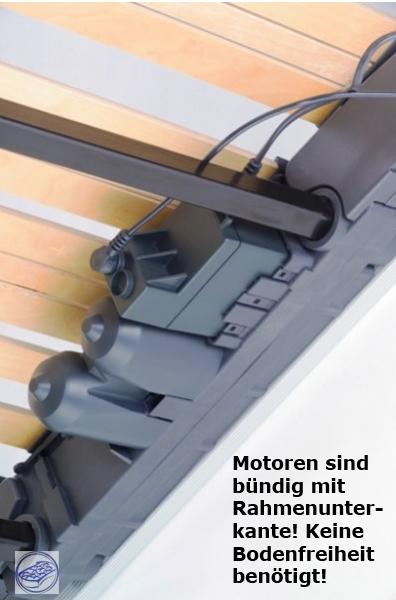 elektrischer 7 zonen motor lattenrost lattenrahmen niedrige h he 9 5cm supply24. Black Bedroom Furniture Sets. Home Design Ideas