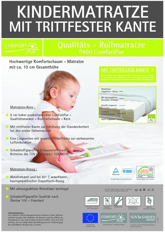 babymatratze mit trittkante