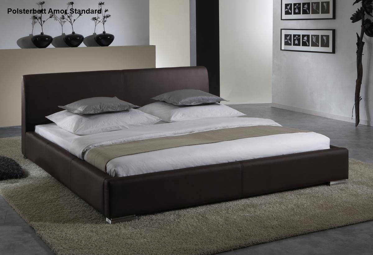 leder bett / polsterbett in farbe beige oder braun lederbett, Wohnzimmer dekoo