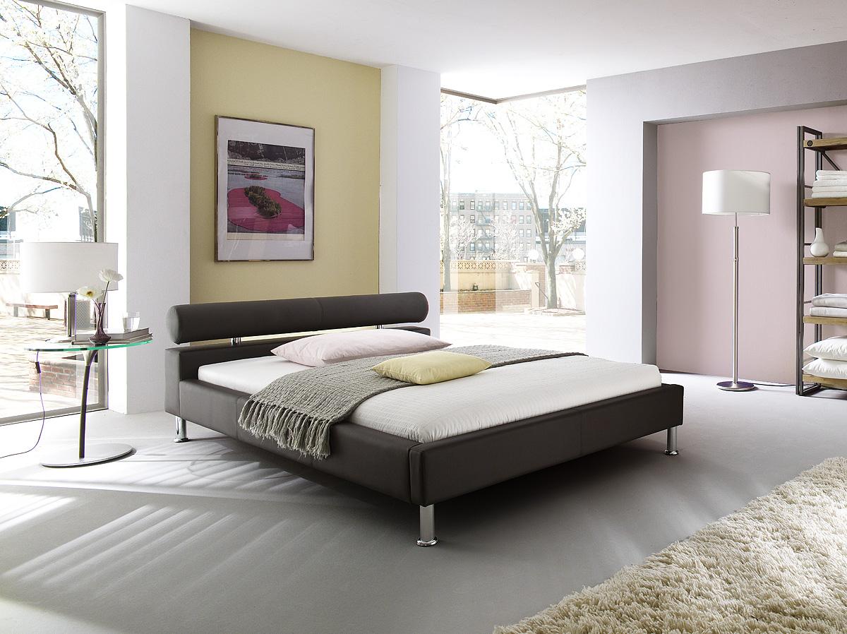 lederbett polsterbett modernes leder bett weiss oder. Black Bedroom Furniture Sets. Home Design Ideas