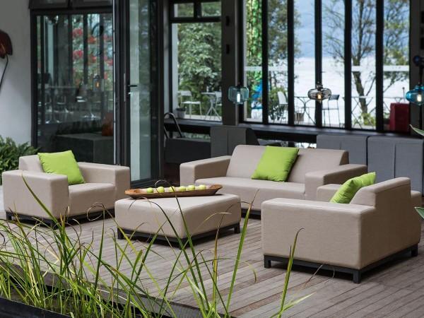 """Lounge Gartenmöbel Set """"Rhodos"""" XXL Sitzgruppe Gartenlounge Sofa für Garten Terrasse Balkon Loungemöbel BEIGE"""