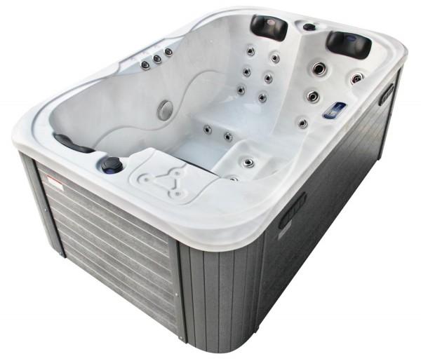 Outdoor Whirlpool Hot Tub Spa Timo 195x127 cm mit 29 Massage Düsen Balboa Marken Technik Heizung Ozon Desinfektion für 3 Personen