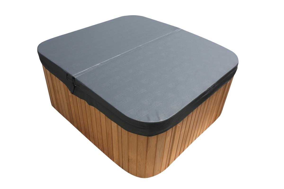 hot tub whirlpool weiss anthrazit mit massage d sen. Black Bedroom Furniture Sets. Home Design Ideas