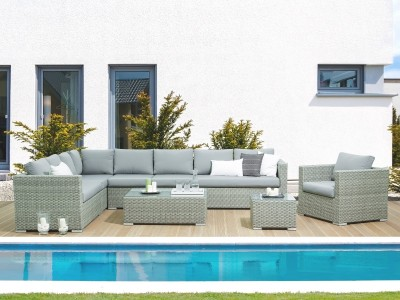 rattan garden furniture set u201etoskana u201c xxl rattan lounge for garden rh supply24 shop de