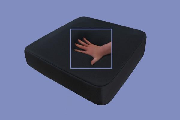 Gel / Gelschaum Sitzkissen Sitzpolster für Rollstuhl Bürostuhl Autositz Kissen schwarz 40x40x5 cm RG 60 / 85