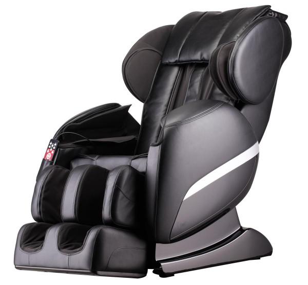 Massagesessel Shiatsu F3000 Zero Gravity schwarz mit Rollentechnik + Heizung + Armmassage + Fußmassage + Beinmassage günstig