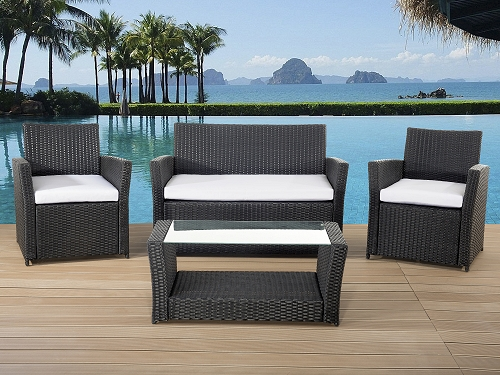 rattan gartenm bel lounge rattanlounge garten tisch bank. Black Bedroom Furniture Sets. Home Design Ideas