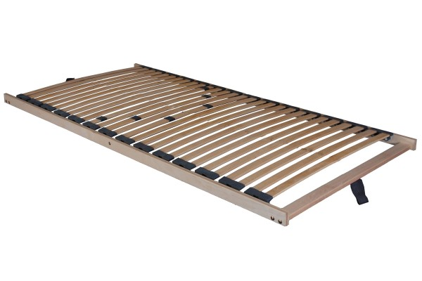 "5 Zonen Lattenrost Lattenrahmen ""Comfort"" 28 Federholzleisten + besonders niedrig nur 5 cm Höhe + fertig montiert"