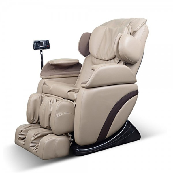 """Massagesessel """"Shiatsu F3"""" creme weiß / beige mit Rollentechnik + Heizung + Armmassage + Fußmassage + Beinmassage super günstig"""