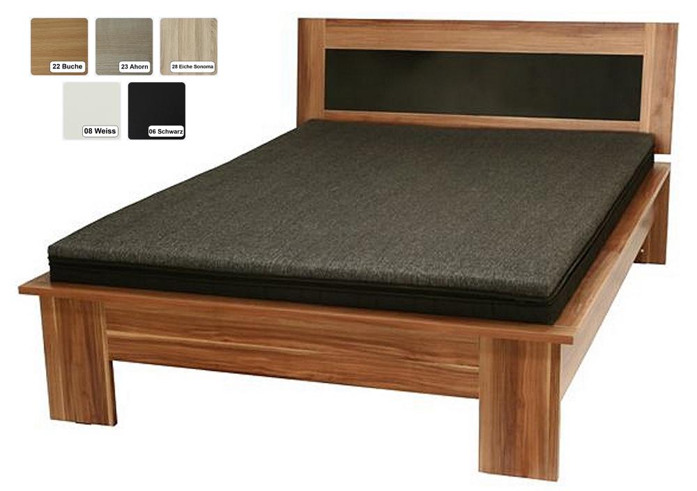 futon bett futonbett holzbett schwarz wei buche ahorn sonoma eiche ahorn supply24. Black Bedroom Furniture Sets. Home Design Ideas