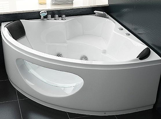 Whirlpool Badewanne Toskana mit 10 Massage Düsen + Glas + Beleuchtung Luxus Spa für Bad innen günstig