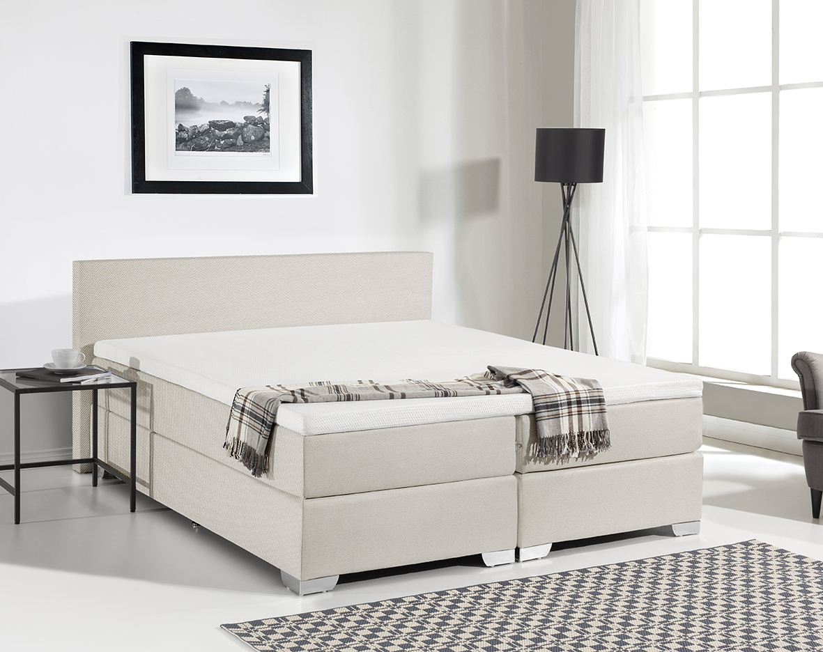 Topper 180x200 Boxspring.Boxspring Bed Miami With Textil Cover Box Spring Memory Foam Bed Black Grey Or Beige With Mattress Visco Topper 160 180 X 200 Cm