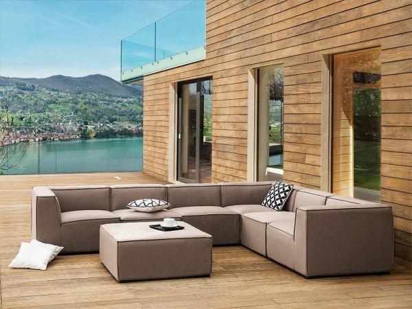 """Lounge Gartenmöbel Set """"Amarillo"""" XXL Sitzgruppe Gartenlounge Sofa für Garten Terrasse Balkon Loungemöbel BEIGE"""