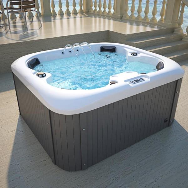Outdoor Whirlpool Hot Tub Spa Springfield 180x160 cm weiss mit 20 Massage Düsen + Heizung + Ozon Desinfektion für 4 Personen
