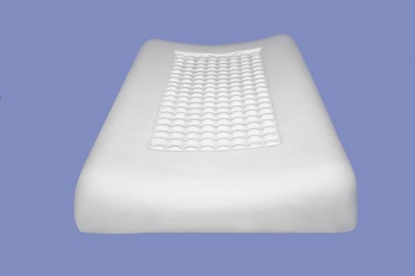Viskoelastisches Kopfkissen viscoelastisches Nackenstützkissen mit Massage Noppen druckentlastend Visco Visko 80 x 40 x 11 cm Memory Foam wellenförmig