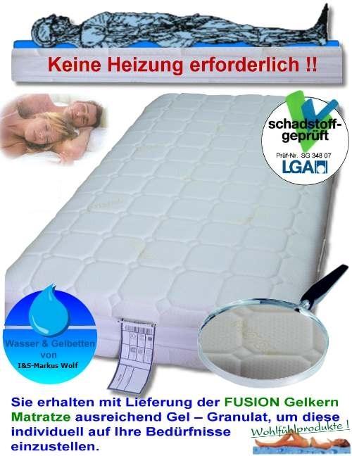 gel matratzen gelbetten h he 22 cm mit kaltschaum alternative zum wasserbett ebay. Black Bedroom Furniture Sets. Home Design Ideas