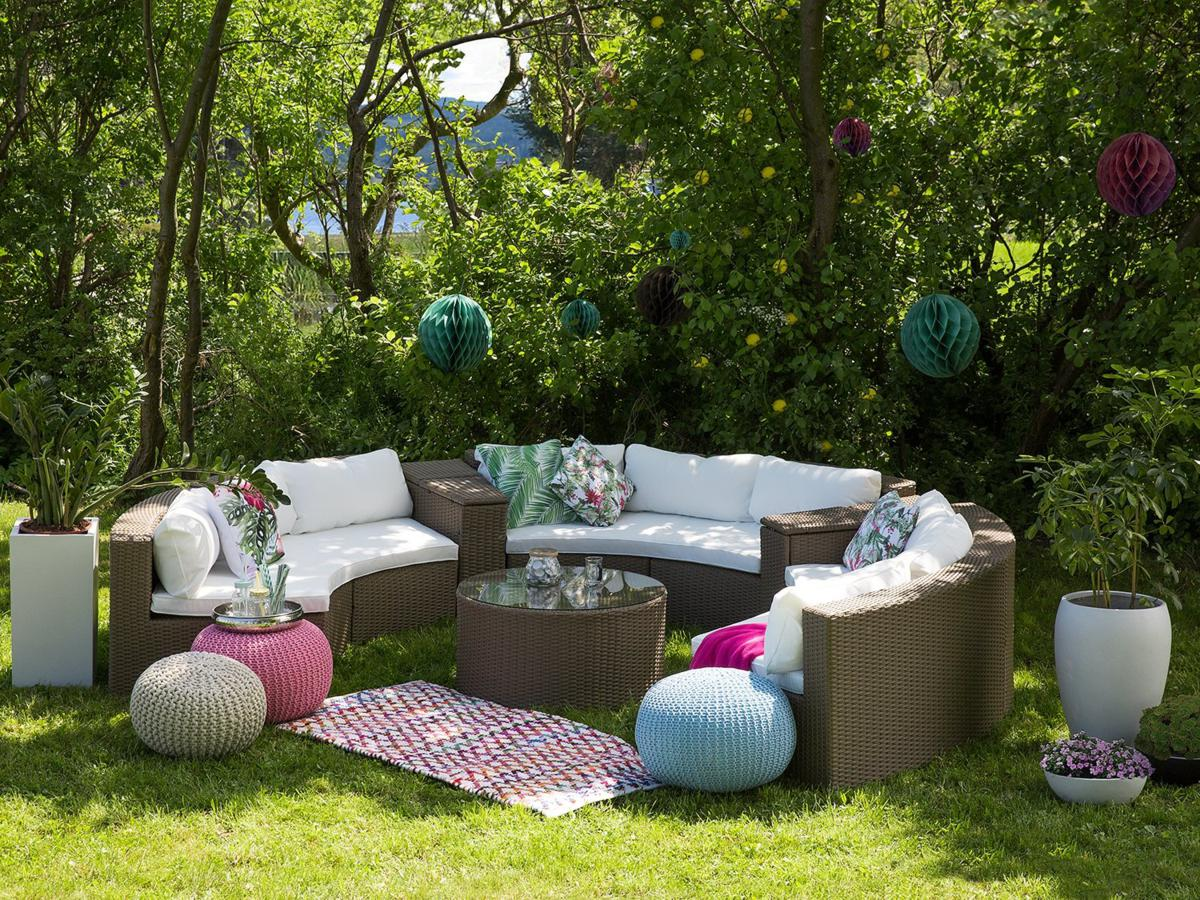 runde rattan gartenm bel lounge rattanlounge garten tisch bank stuhl g nstig supply24. Black Bedroom Furniture Sets. Home Design Ideas