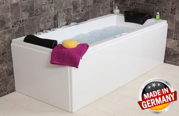 Whirlpool Badewanne Relax Profi mit 22 / 24 Massage Düsen + Heizung + Ozon + LED Beleuchtung + 7 Größen wählbar für 2 Personen