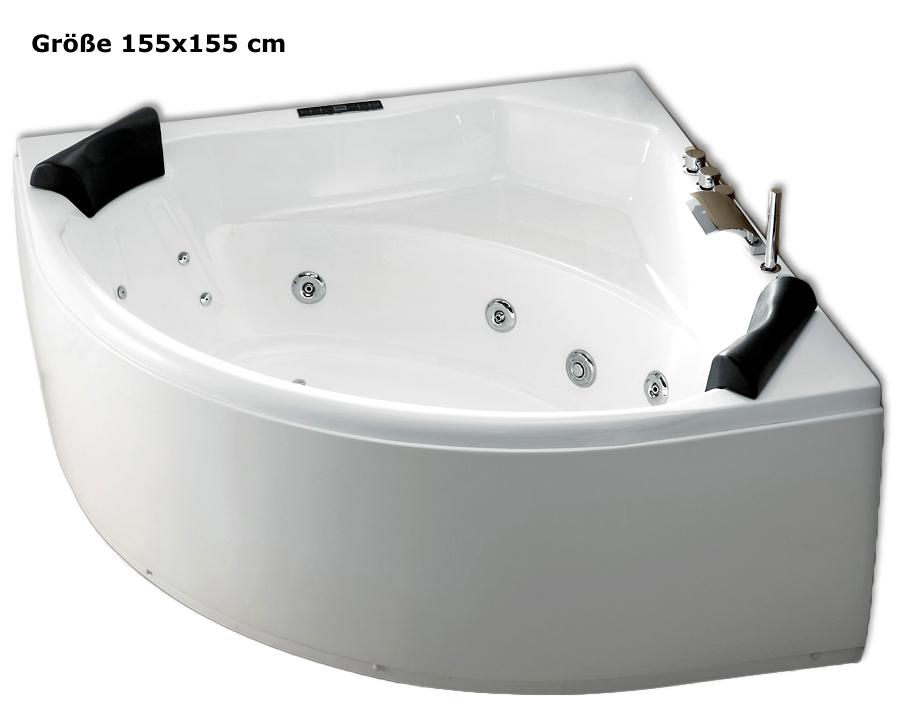 whirlpool badewanne karibik mit 21 d sen heizung ozon. Black Bedroom Furniture Sets. Home Design Ideas