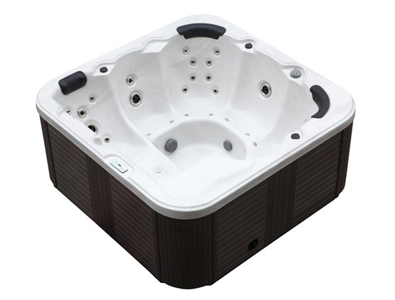 hot tub whirlpool g nstig 40 d sen heizung beleuchtung f r 6 personen supply24. Black Bedroom Furniture Sets. Home Design Ideas