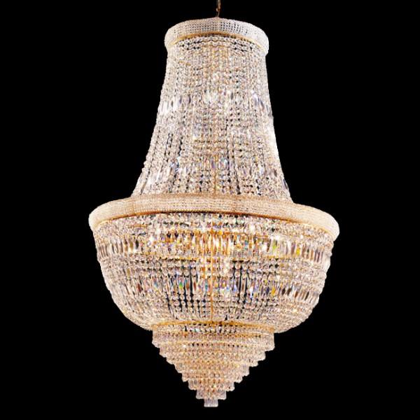 Kristall Kronleuchter Günstig Gebraucht : Kristall kronleuchter mit karat gold chandelier empire