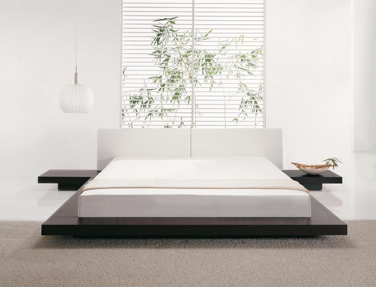 Designer Bett Japan Stil flaches massives Futonbett Walnuss mit ...
