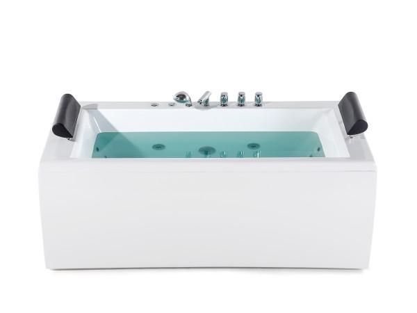 Whirlpool Badewanne Manhattan mit 14 Massage Düsen + LED Beleuchtung  172x83 cm Luxus Spa für Bad günstig