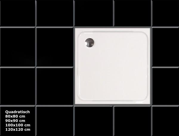 Duschwanne aus Sanitär Acryl flache Duschtasse für Bad Dusche flach rechteck viertelkreis quadratisch