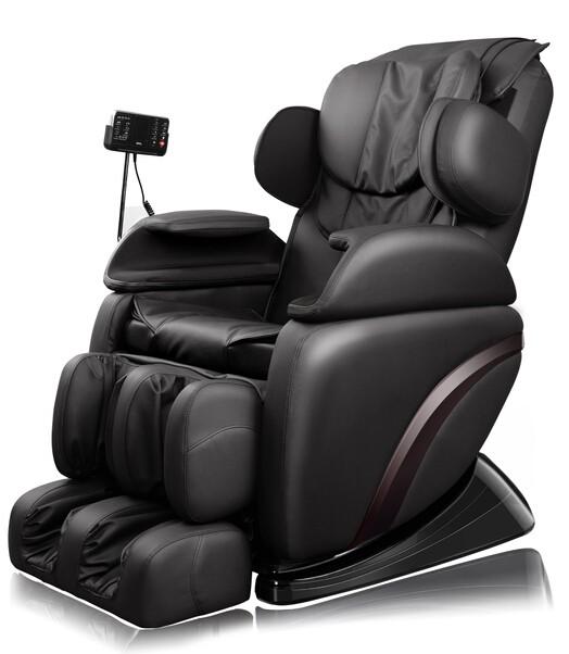 lusso sedia Massaggio Shiatsu pelle nera con rullo Riscaldamento ...